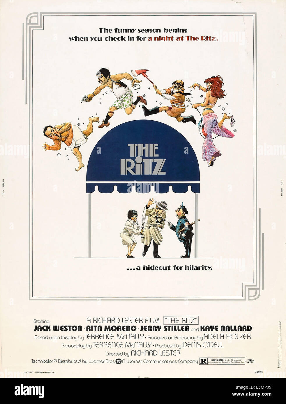 THE RITZ, US poster art, 1976 - Stock Image