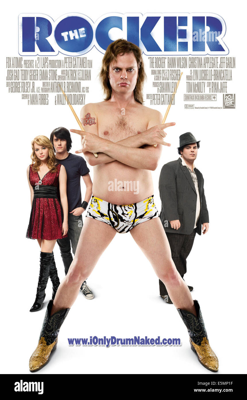 THE ROCKER, from left: Emma Stone, Teddy Geiger, Rainn Wilson, Josh Gad, 2008. TM & Copyright ©Fox Atomic/20th - Stock Image