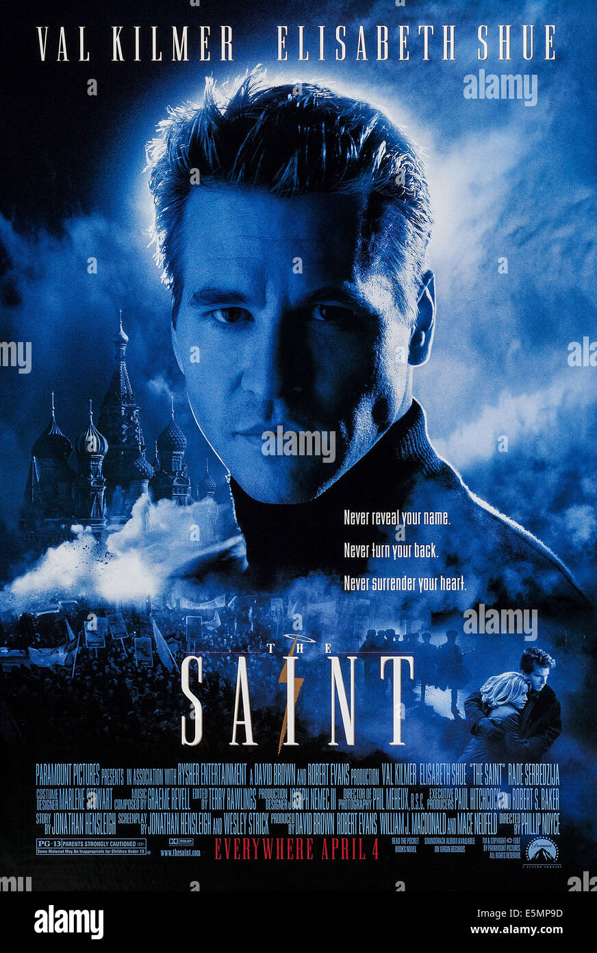 THE SAINT, US advance poster art, Val Kilmer, 1997. ©Paramount/courtesy Everett Collection - Stock Image