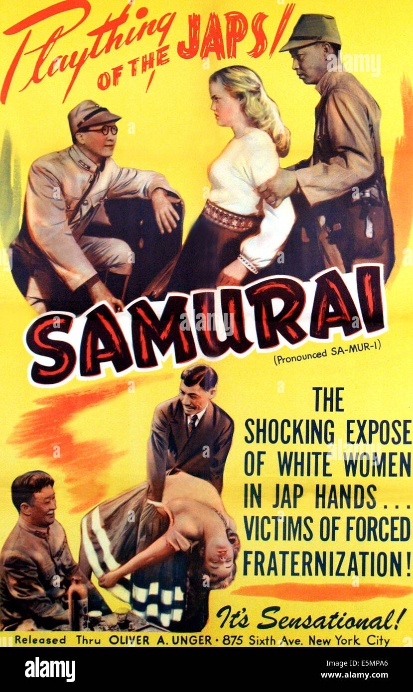 SAMURAI, poster art, 1945. - Stock Image