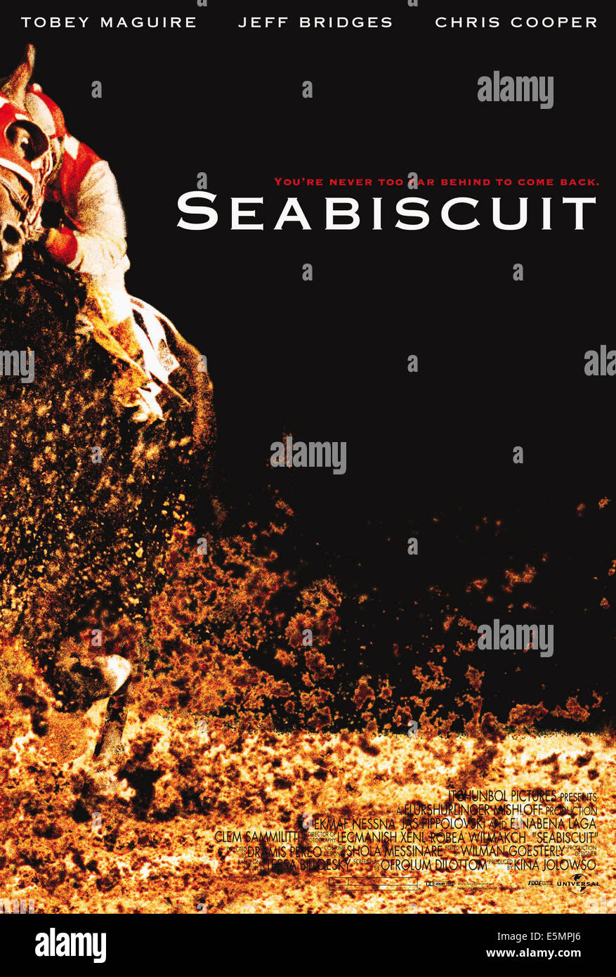 SEABISCUIT, Poster art, 2003, (c) Universal/courtesy Everett Collection - Stock Image