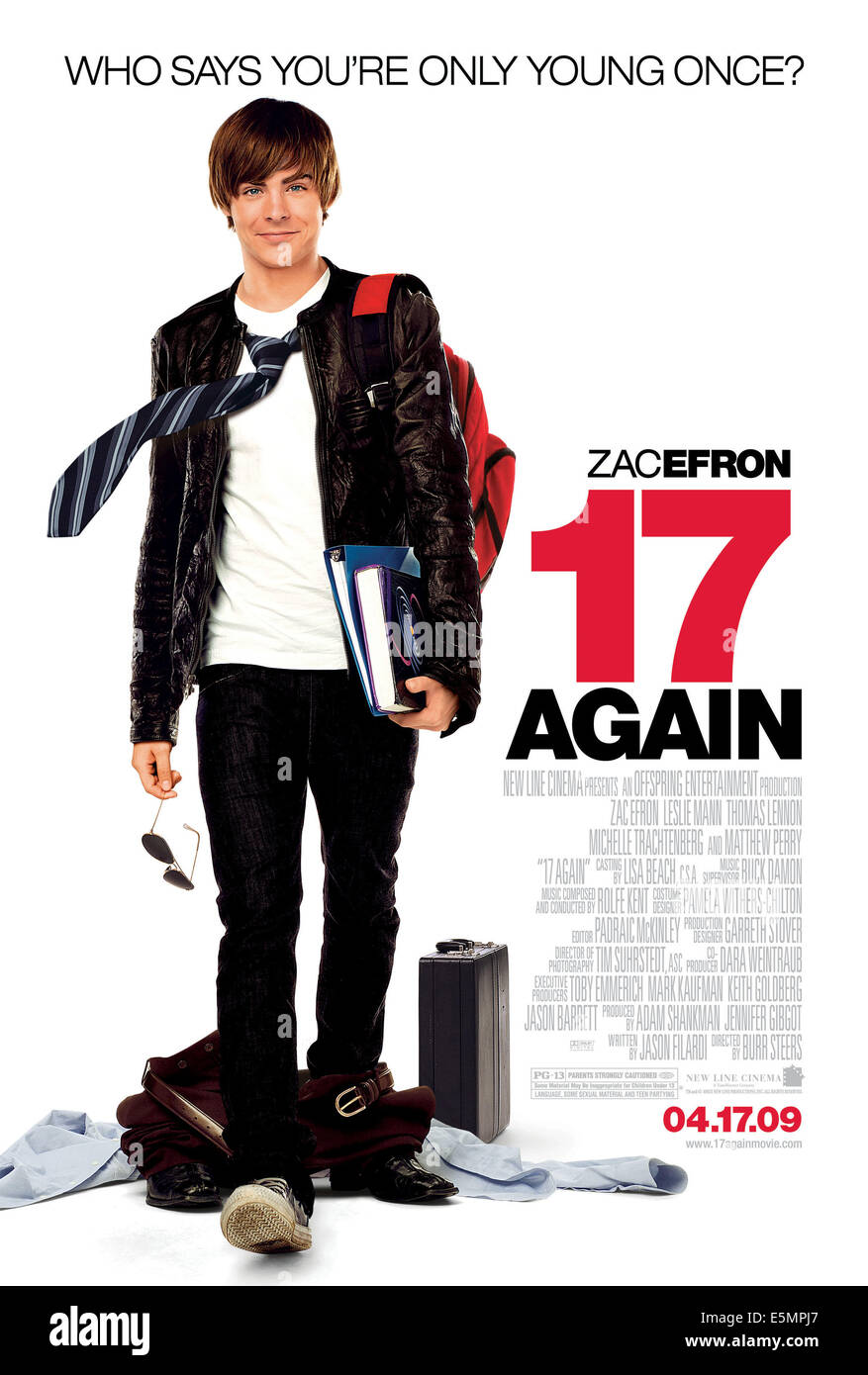 17 AGAIN, (aka SEVENTEEN AGAIN), Zac Efron, 2009. ©New Line/courtesy Everett Collection - Stock Image