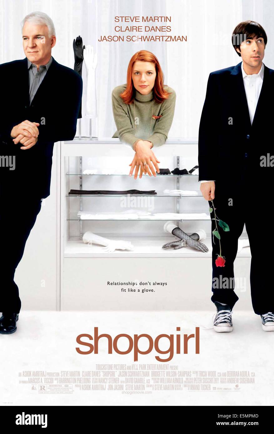 SHOPGIRL, Steve Martin, Claire Danes, Jason Schwartzman, poster art, 2005 - Stock Image