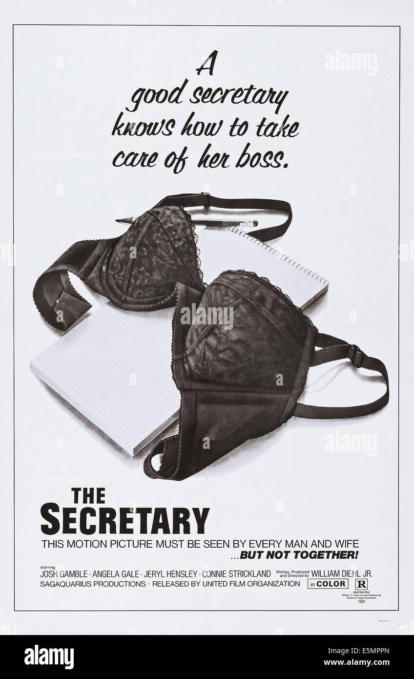 THE SECRETARY, poster art, 1971. - Stock Image