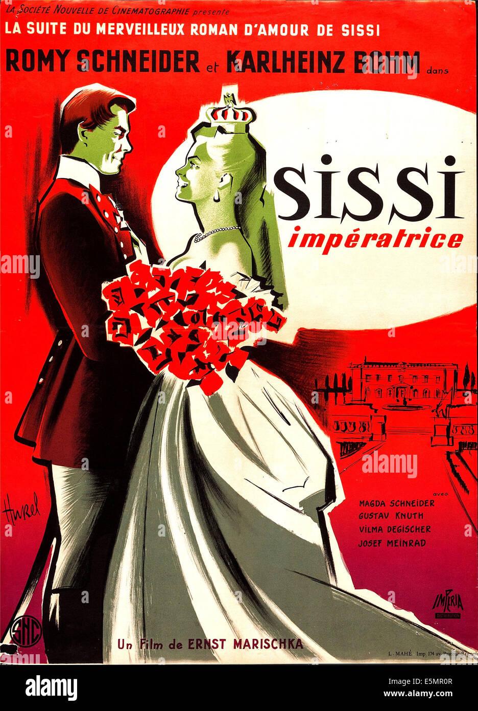 SISSI, Austrian poster art, 1955. - Stock Image