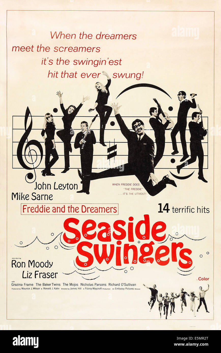 EVERY DAY'S A HOLIDAY, (aka SEASIDE SWINGERS), US poster art, center: Freddie Garrity, 1965 - Stock Image