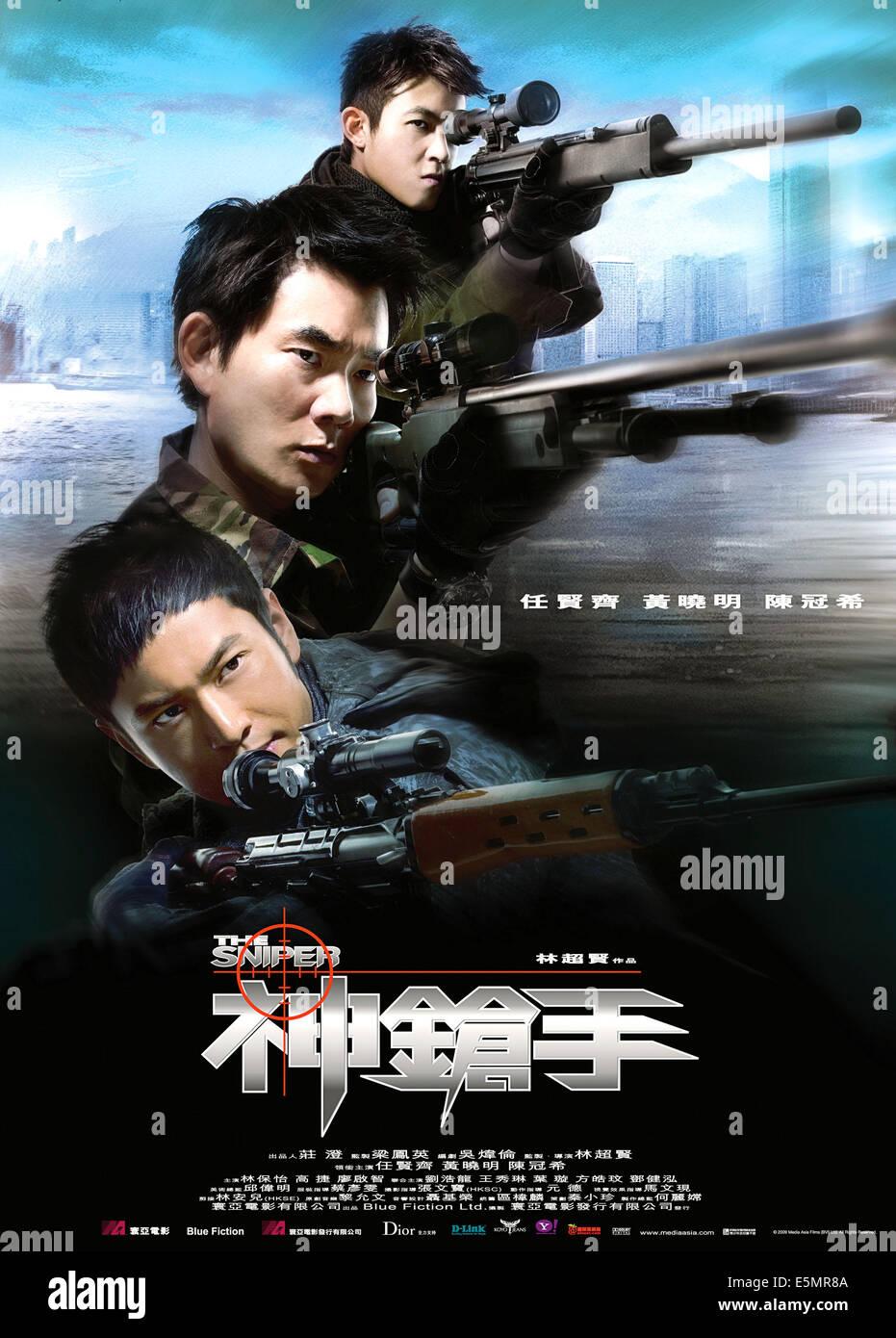 THE SNIPER, (aka SUN CHEUNG SAU, aka GODLY GUNSLINGERS), from top: Edison CHEN, Richie REN, HUANG Xiaoming, 2009. - Stock Image