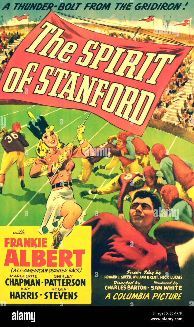 THE SPIRIT OF STANFORD, poster art, 1942 - Stock Image