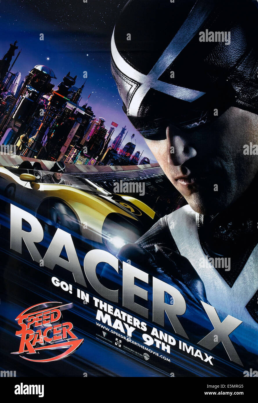 SPEED RACER, US advance poster, Matthew Fox, 2008. ©Warner Brothers/courtesy Everett Collection - Stock Image