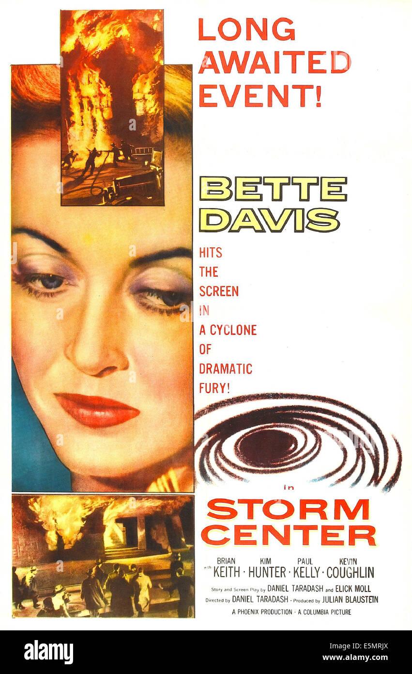 STORM CENTER, Bette Davis on poster art, 1956 - Stock Image