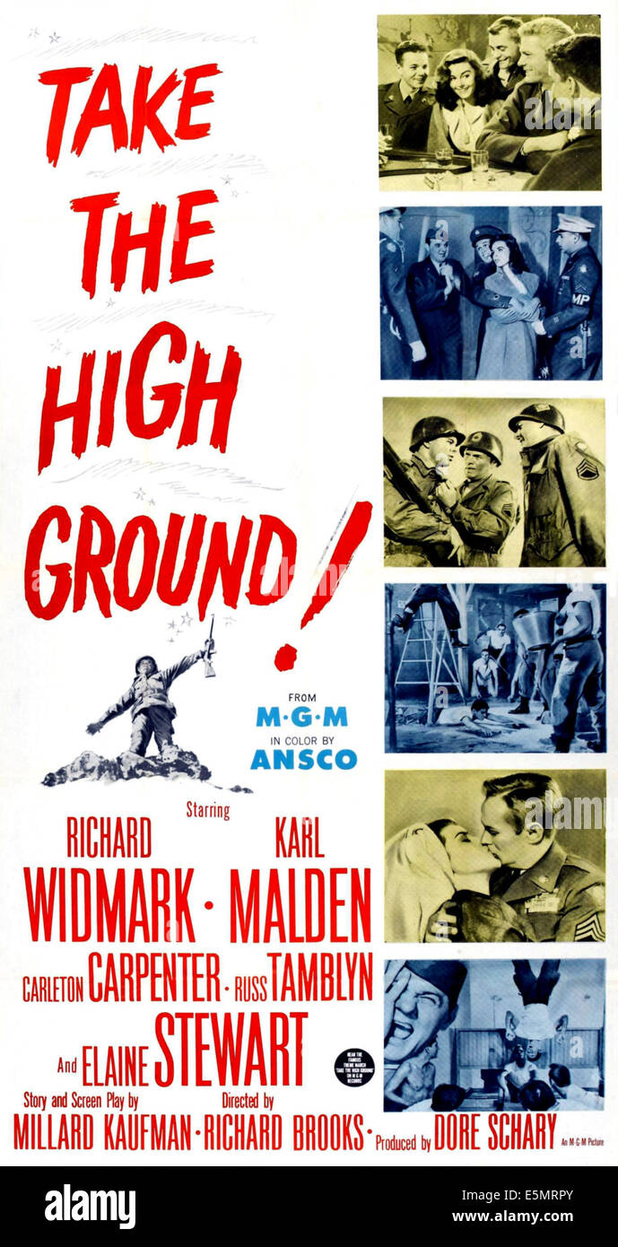 TAKE THE HIGH GROUND!, 1953. - Stock Image