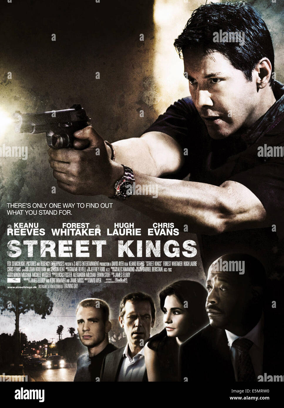 STREET KINGS, Chris Evans, Hugh Laurie, Martha Higareda, Forest Whitaker, Keanu Reeves, 2008. TM and ©Copyright - Stock Image