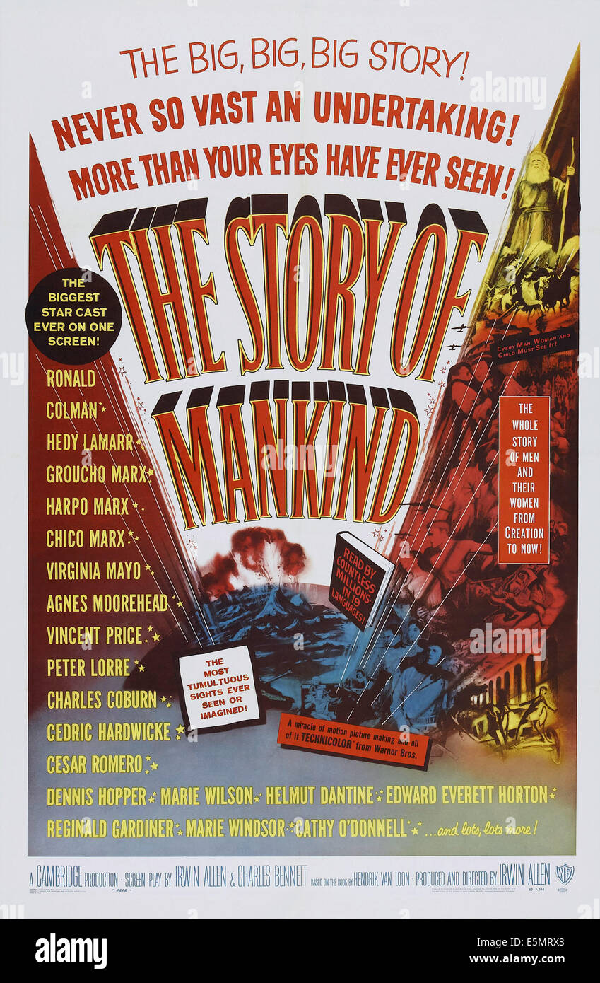 THE STORY OF MANKIND, poster art, 1957 - Stock Image