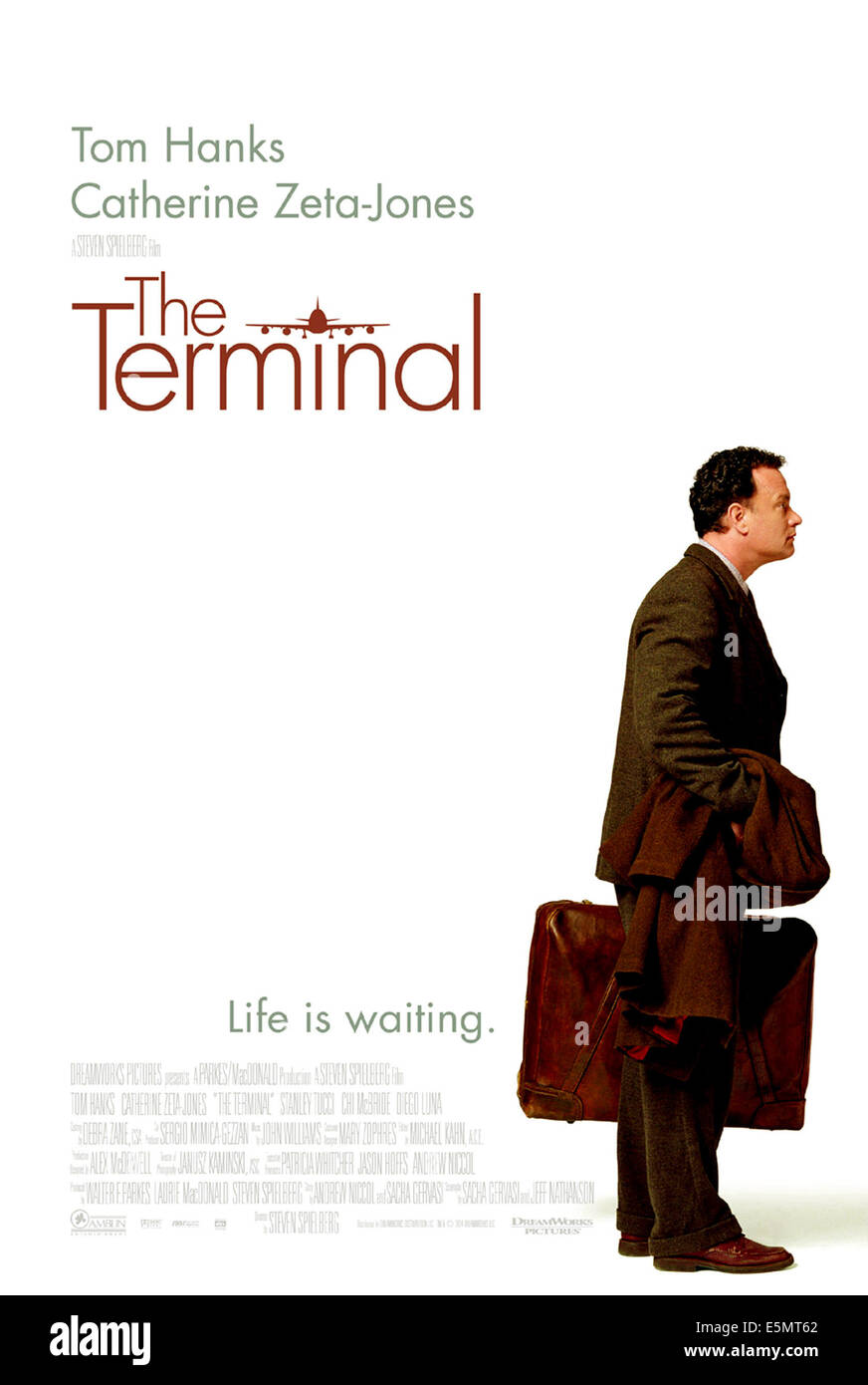THE TERMINAL, Tom Hanks, 2004, (c) DreamWorks/courtesy Everett Collection - Stock Image
