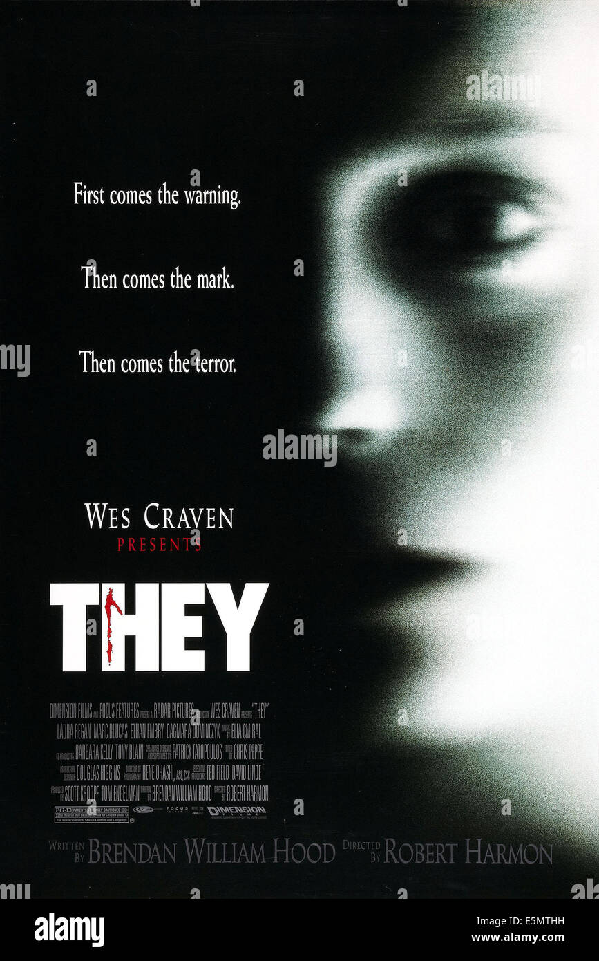 THEY, US poster art, 2002. ©Miramax/courtesy Everett Collection - Stock Image