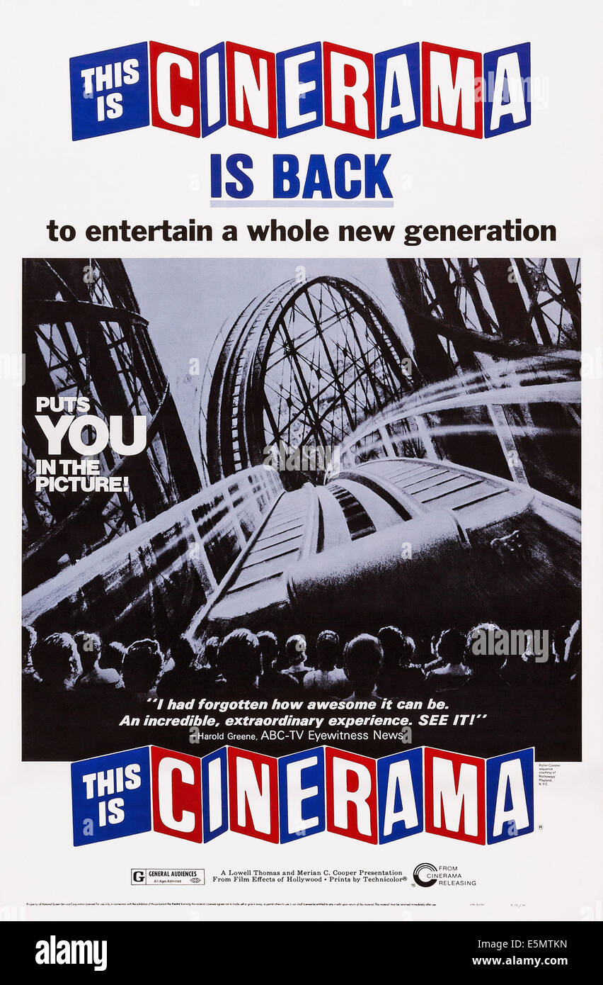 THIS IS CINERAMA, poster art, 1952. - Stock Image