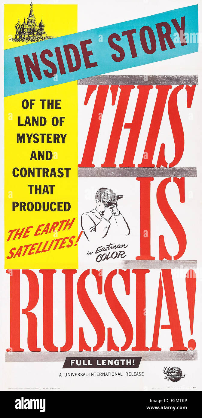 THIS IS RUSSA!, poster art, 1958 - Stock Image