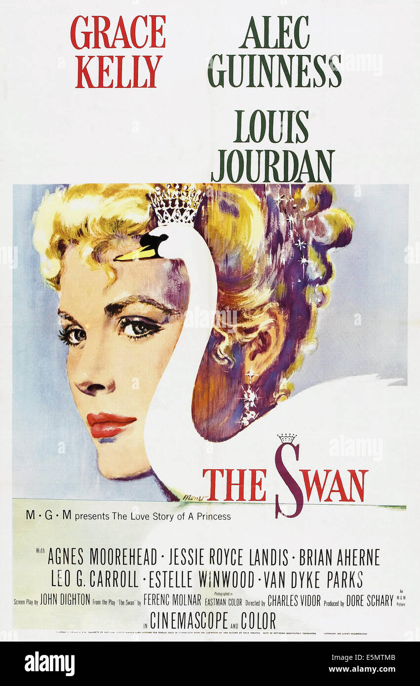 THE SWAN, US poster art, Grace Kelly, 1956 - Stock Image