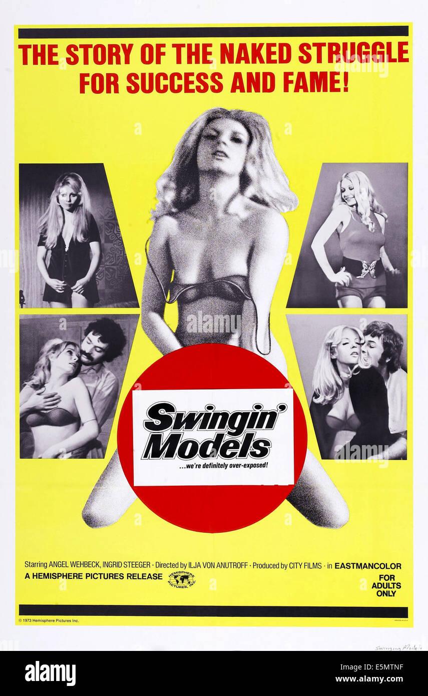 SWINGIN' MODELS, poster art, 1973. - Stock Image
