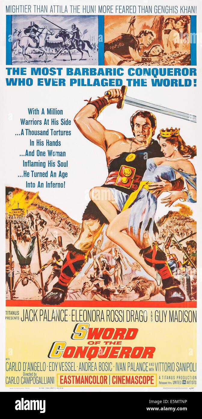 best sneakers 84f02 7f071 SWORD OF THE CONQUEROR, (aka ROSMUNDA E ALBOINO), US poster ...