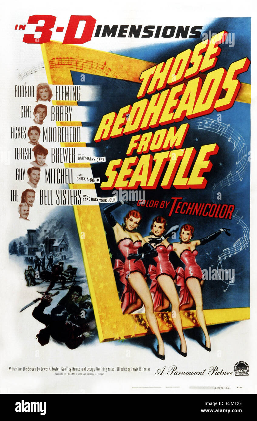 THOSE REDHEADS FROM SEATTLE, US poster art,  1953 - Stock Image
