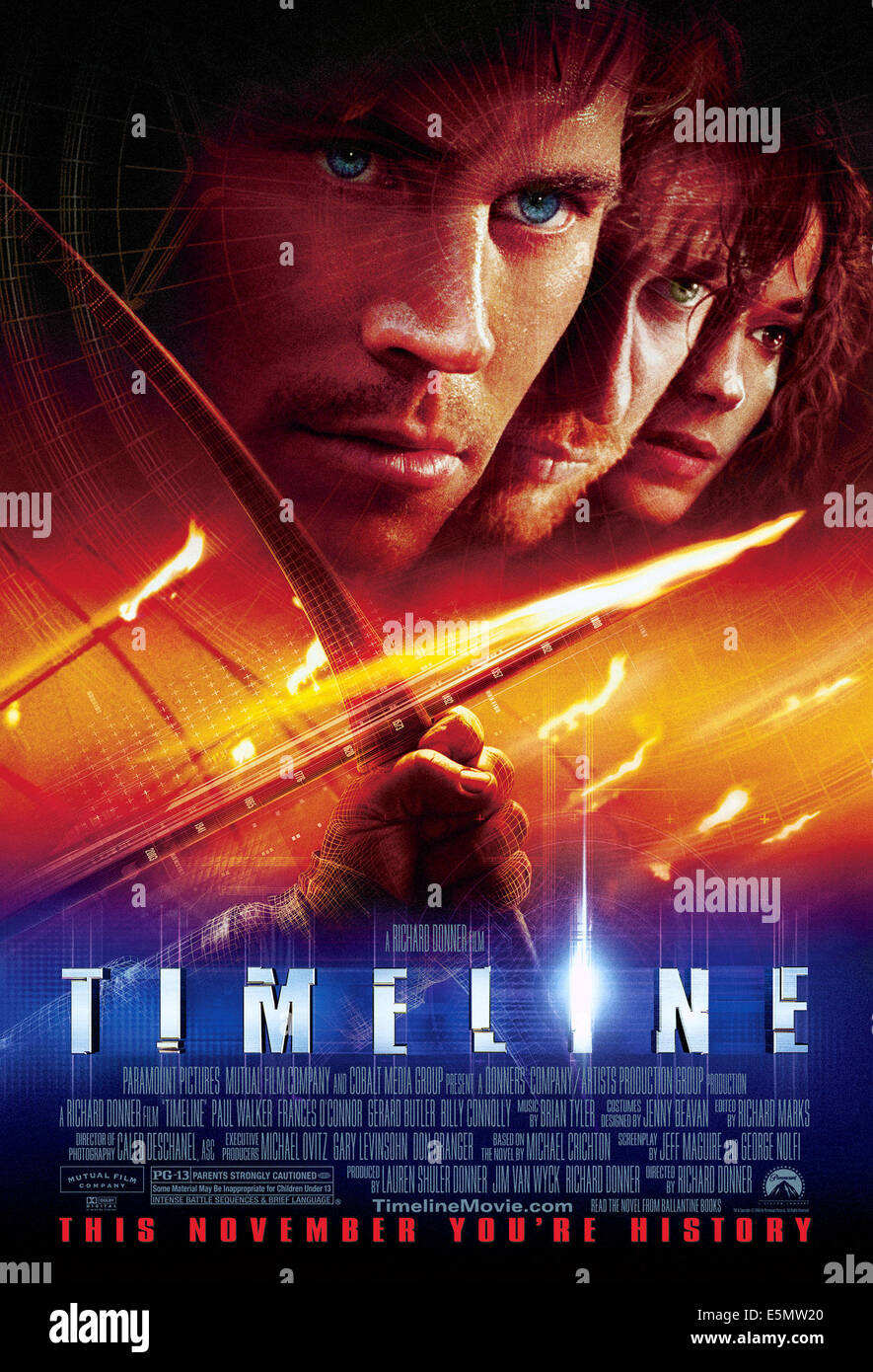 TIMELINE, 2003, (c) Paramount/courtesy Everett Collection - Stock Image
