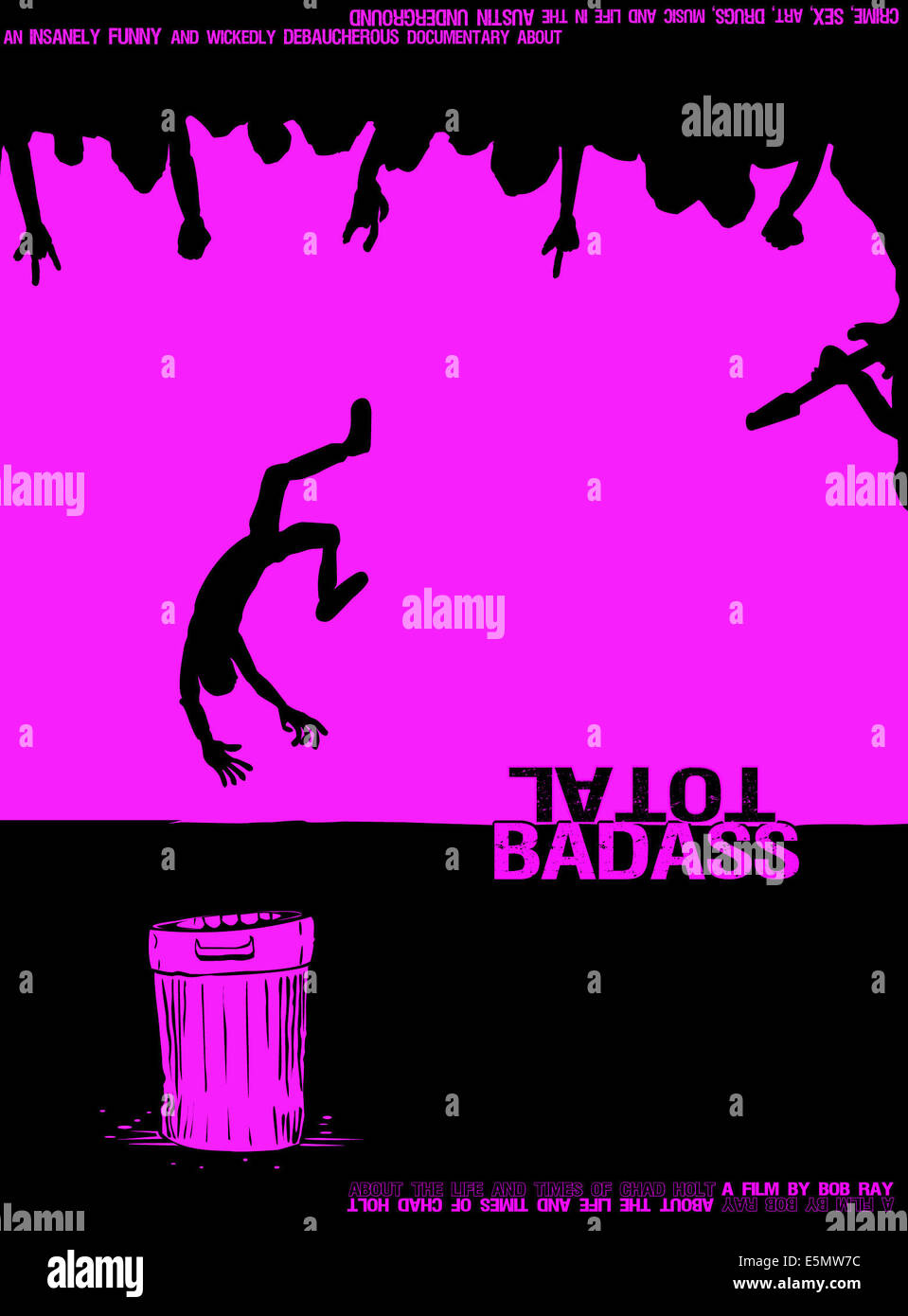 TOTAL BADASS, poster art, 2010, ©CrashCam Films/courtesy Everett Collection - Stock Image