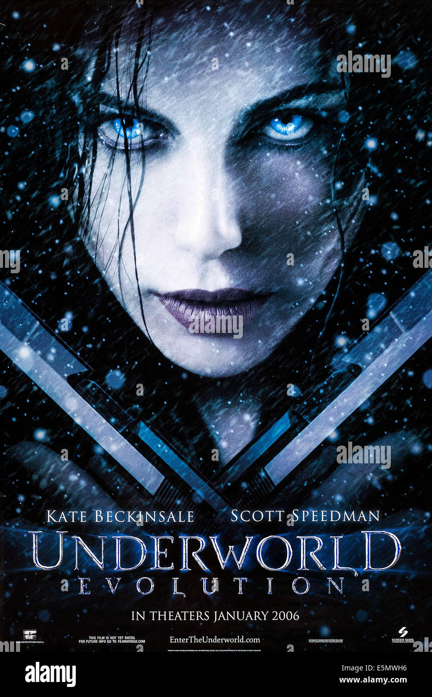 UNDERWORLD: EVOLUTION, US advance poster art, Kate Beckinsale, 2006. © Screen Gems/courtesy Everett Collection - Stock Image