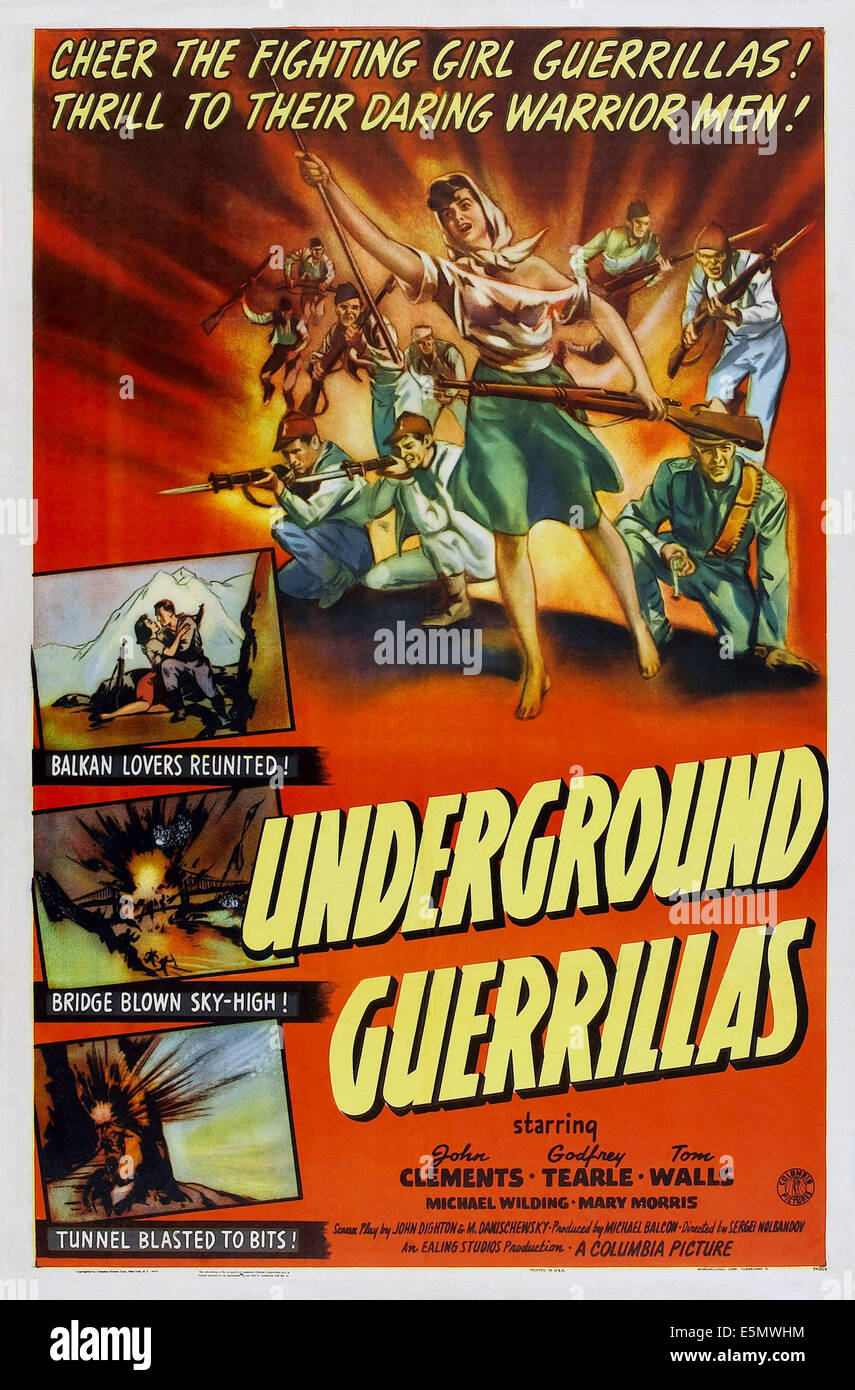 UNDERGROUND GUERRILLAS, (aka UNDERCOVER), US poster, 1943 Stock Photo