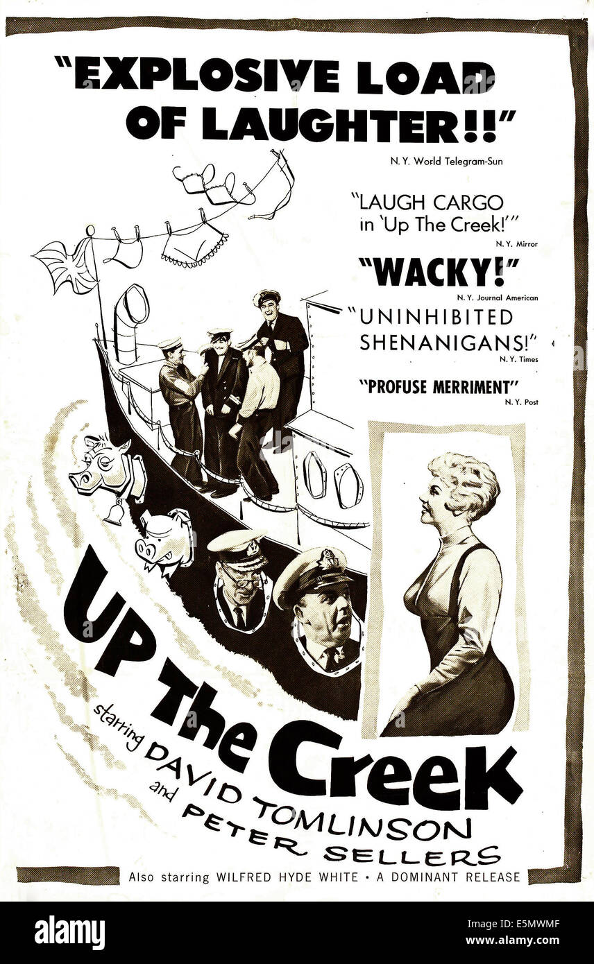 UP THE CREEK, US poster art, 1958. - Stock Image