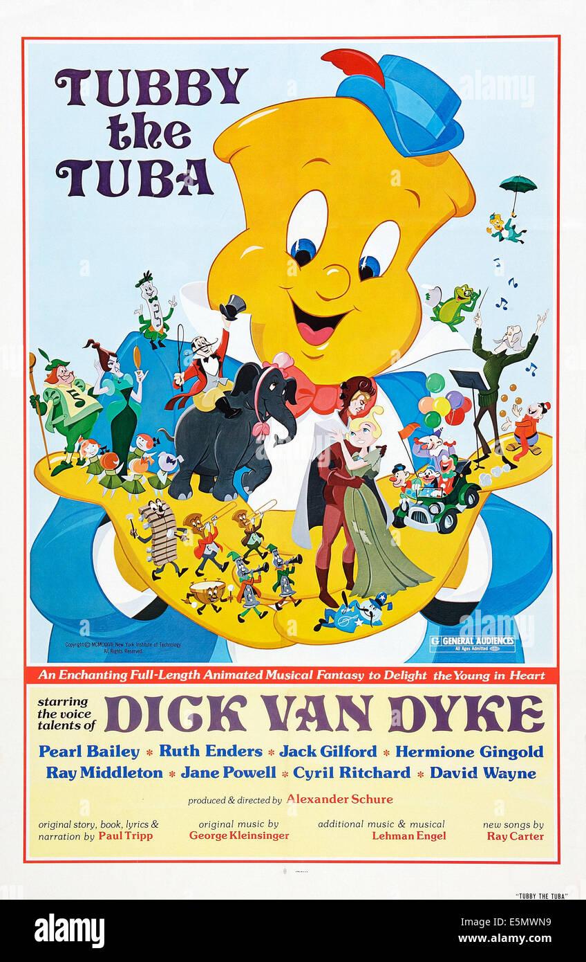 TUBBY THE TUBA, poster art, 1975. - Stock Image