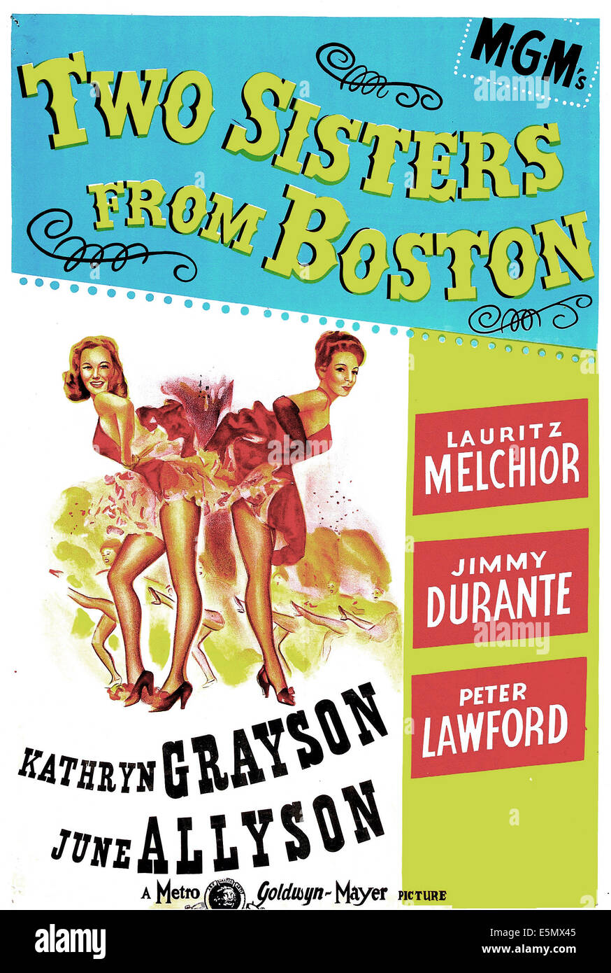 TWO SISTERS FROM BOSTON, US poster, from left: June Allyson, Kathryn Grayson, 1946 - Stock Image