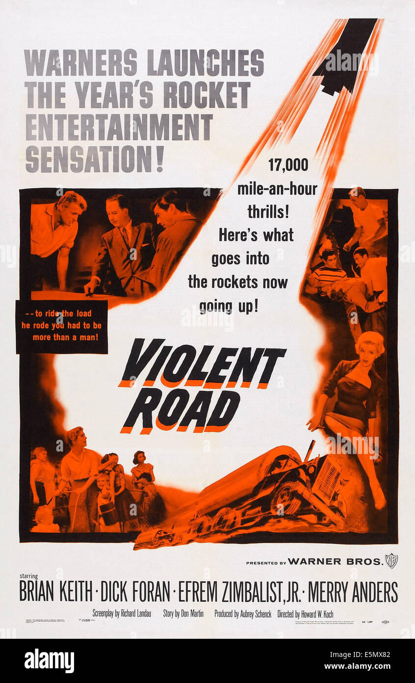 VIOLENT ROAD, 1958 - Stock Image