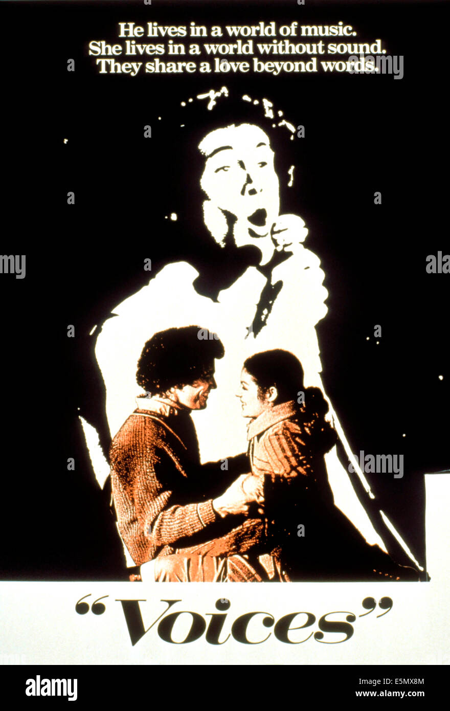 VOICES, Michael Ontkean, Amy Irving, rear: Michael Ontkean, 1979, (c) MGM/courtesy Everett Collection - Stock Image