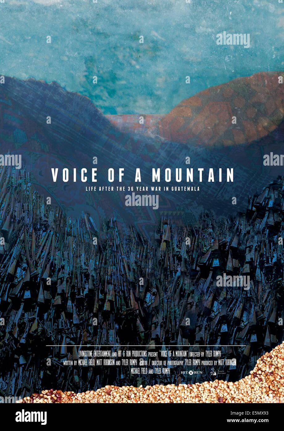 VOICE OF A MOUNTAIN, international poster art, 2008 - Stock Image