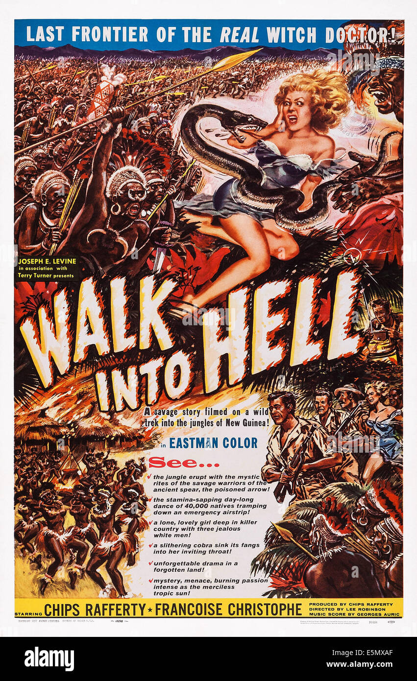 WALK INTO PARADISE, (aka WALK INTO HELL), US poster art, 1956 - Stock Image