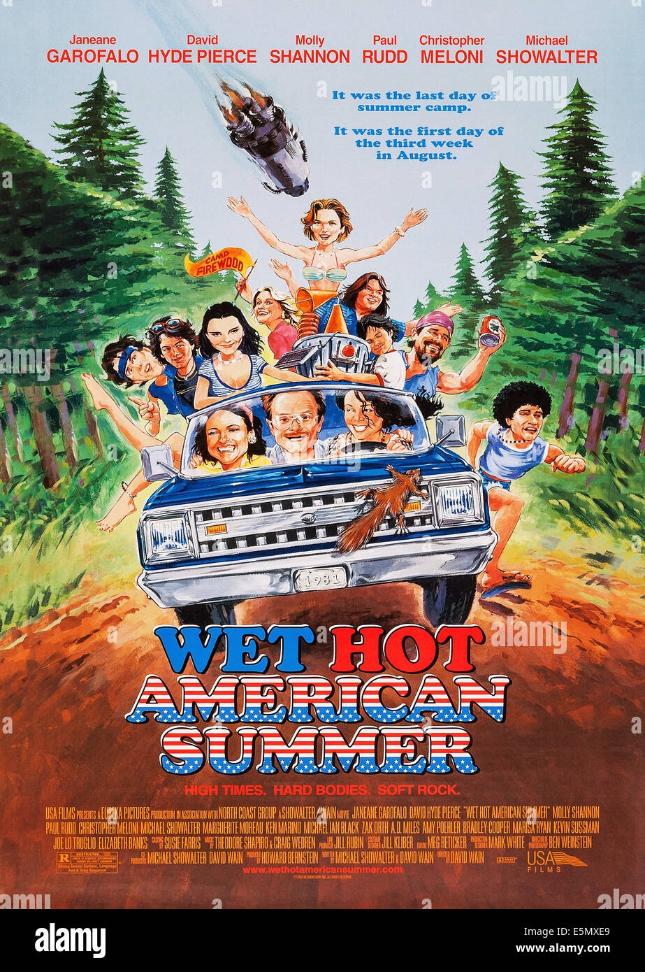 WET HOT AMERICAN SUMMER, US poster art, Molly Shannon, (front seat