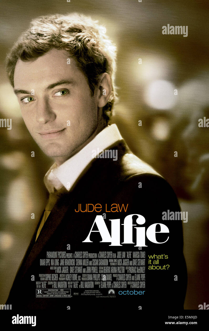 ALFIE, Jude Law, 2004, (c) Paramount/courtesy Everett Collection - Stock Image