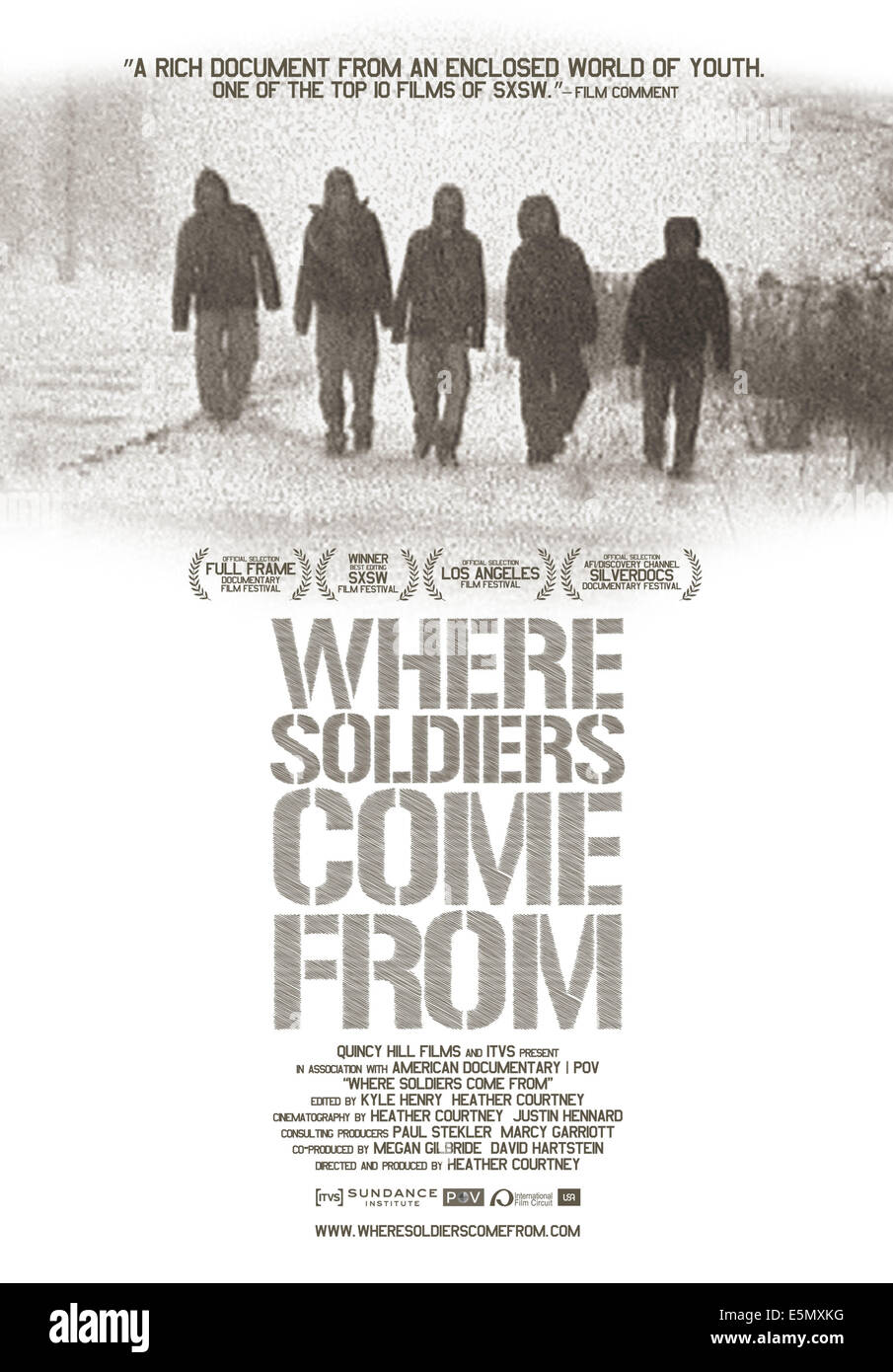 WHERE SOLDIERS COME FROM, US poster art, 2011 - Stock Image