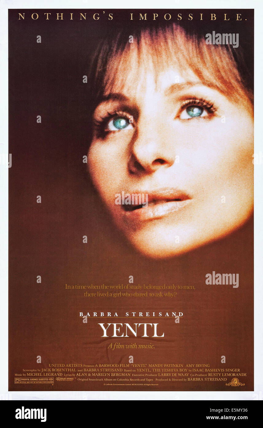 109 Best Images About Yentl 1983 On Pinterest: Yentl Stock Photos & Yentl Stock Images