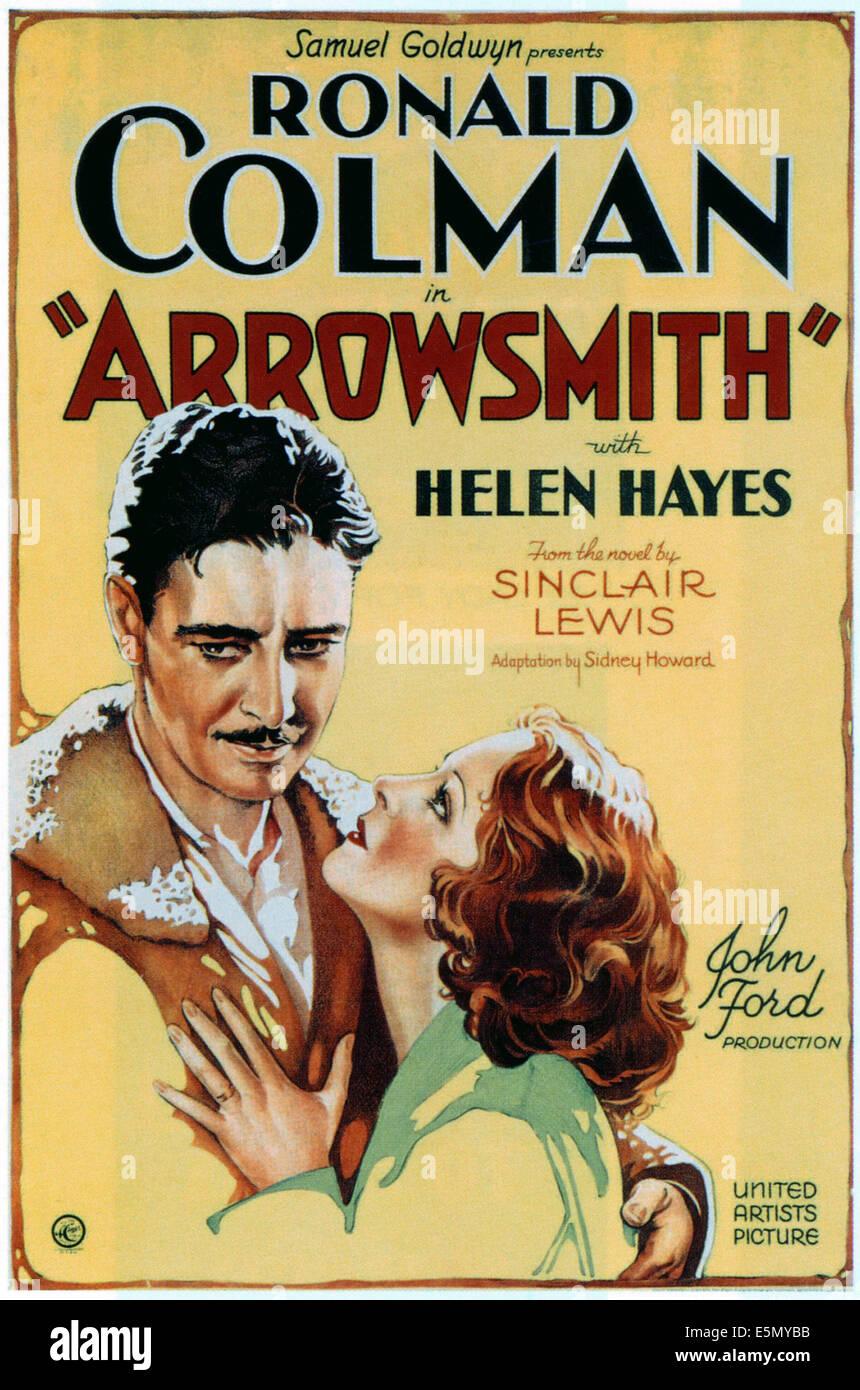 ARROWSMITH, Ronald Colman, Helen Hayes, 1931 - Stock Image