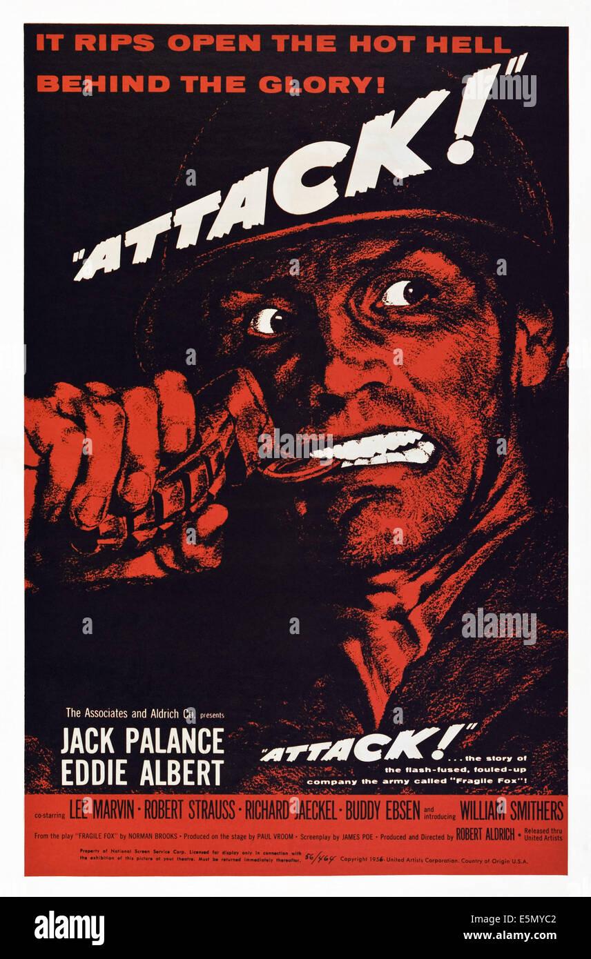 ATTACK!, Jack Palance, 1956. - Stock Image