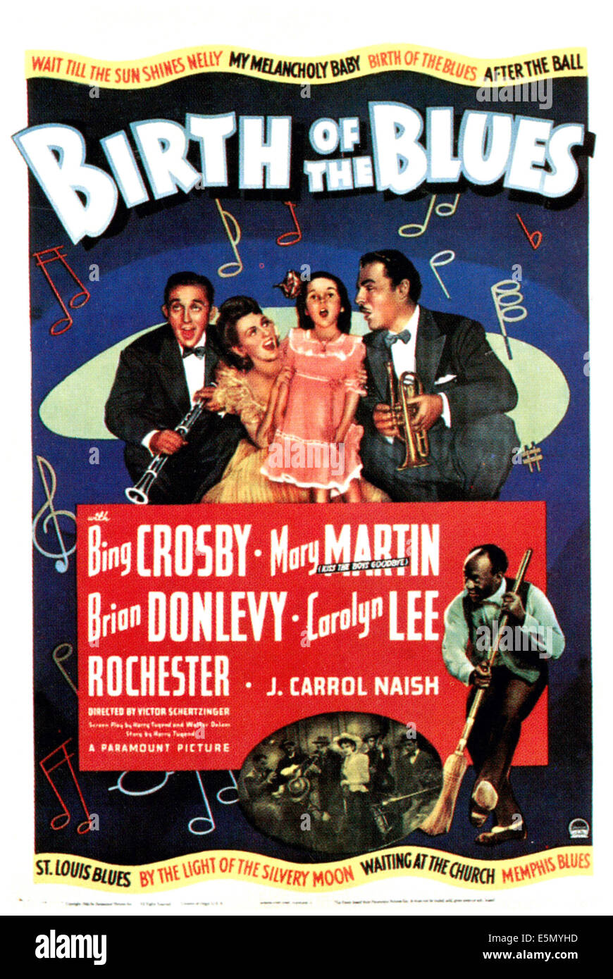 BIRTH OF THE BLUES, Bing Crosby, Mary Martin, Carolyn Lee, Brian Donlevy, Eddie Anderson,  1941 - Stock Image