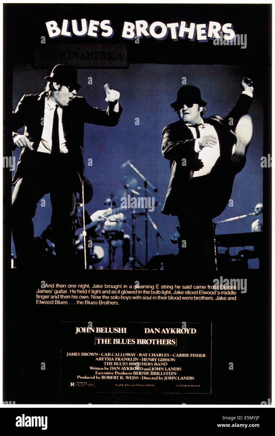 THE BLUES BROTHERS, Dan Aykroyd, John Belushi, 1980, ©Universal Pictures/courtesy Everett Collection - Stock Image