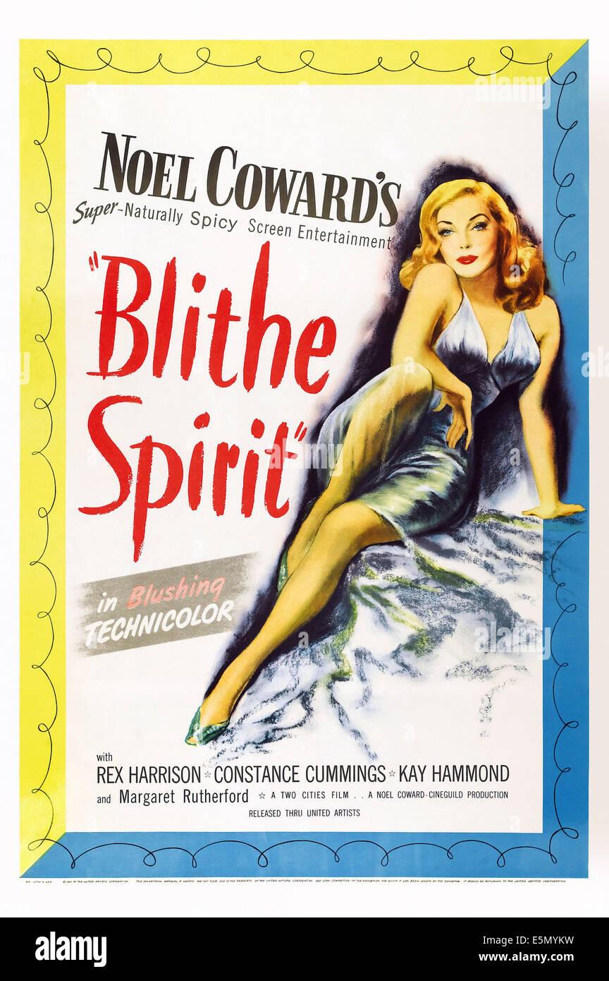 BLITHE SPIRIT, poster art, 1945 - Stock Image