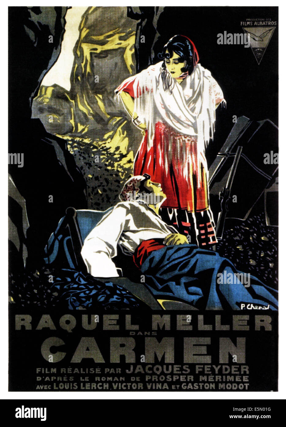 CARMEN, poster art, 1926. - Stock Image