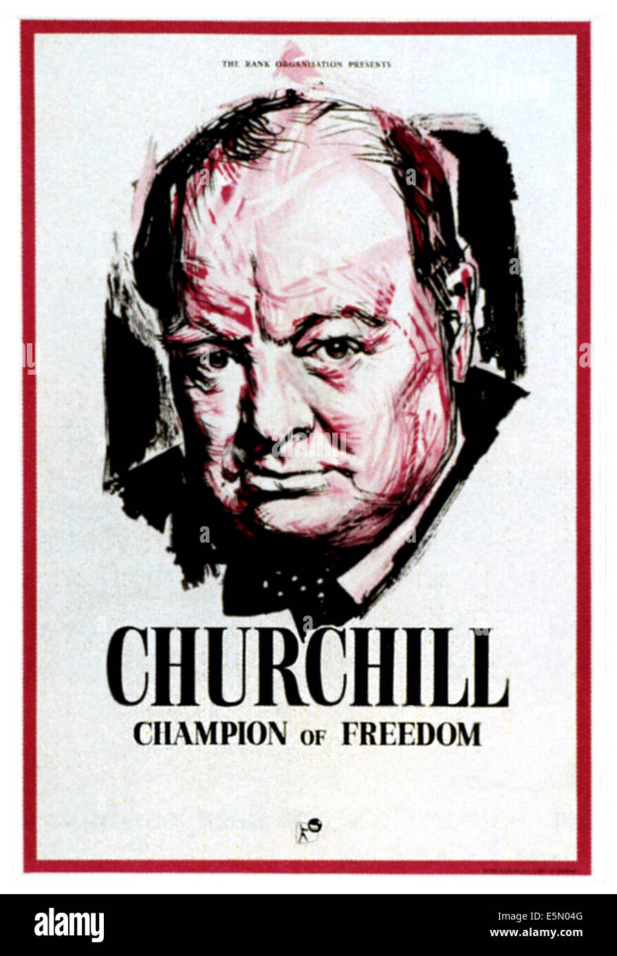 CHAMPION OF FREEDOM, Winston Churchill, 1960 - Stock Image