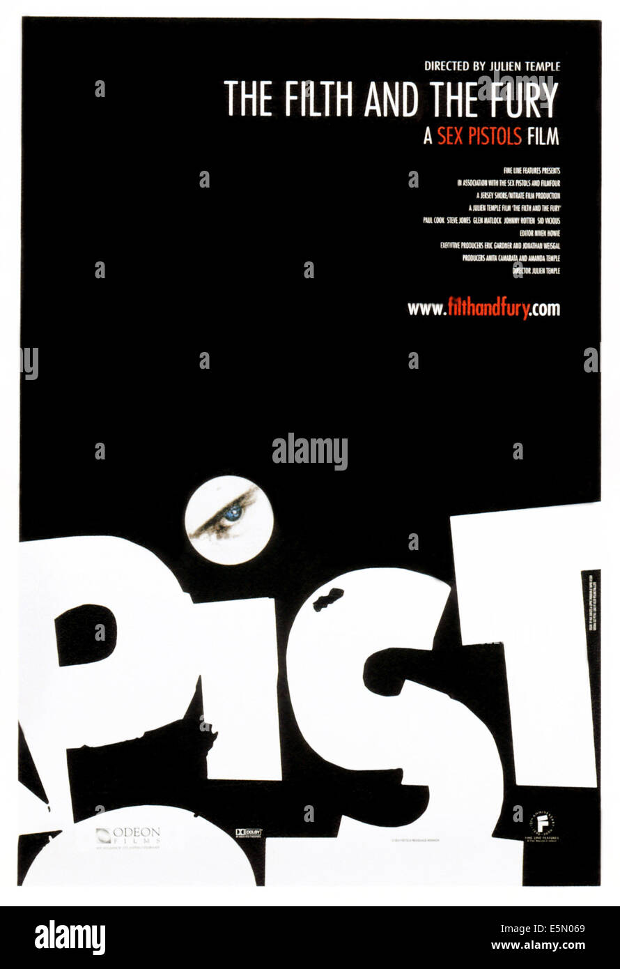 THE FILTH AND THE FURY, poster art, 2000, ©Fine Line Features/courtesy Everett Collection - Stock Image