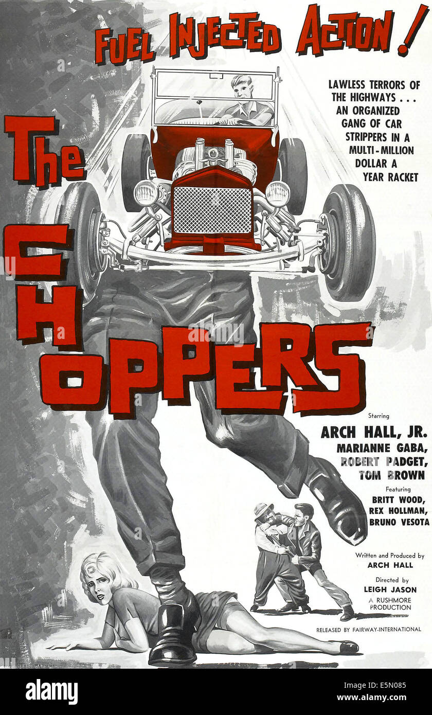 THE CHOPPERS, poster art, 1961 - Stock Image