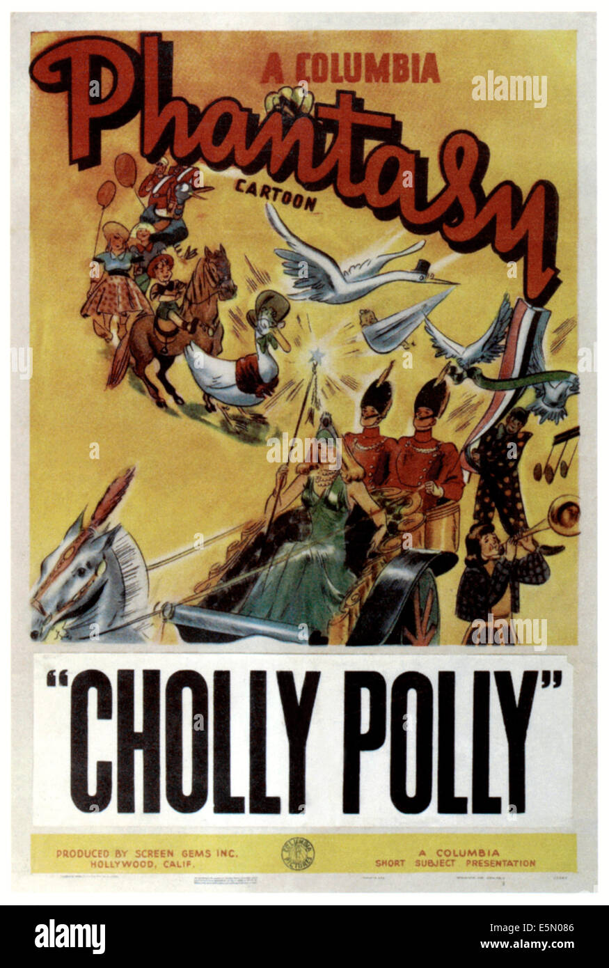 CHOLLY POLLY, poster art, 1942. - Stock Image